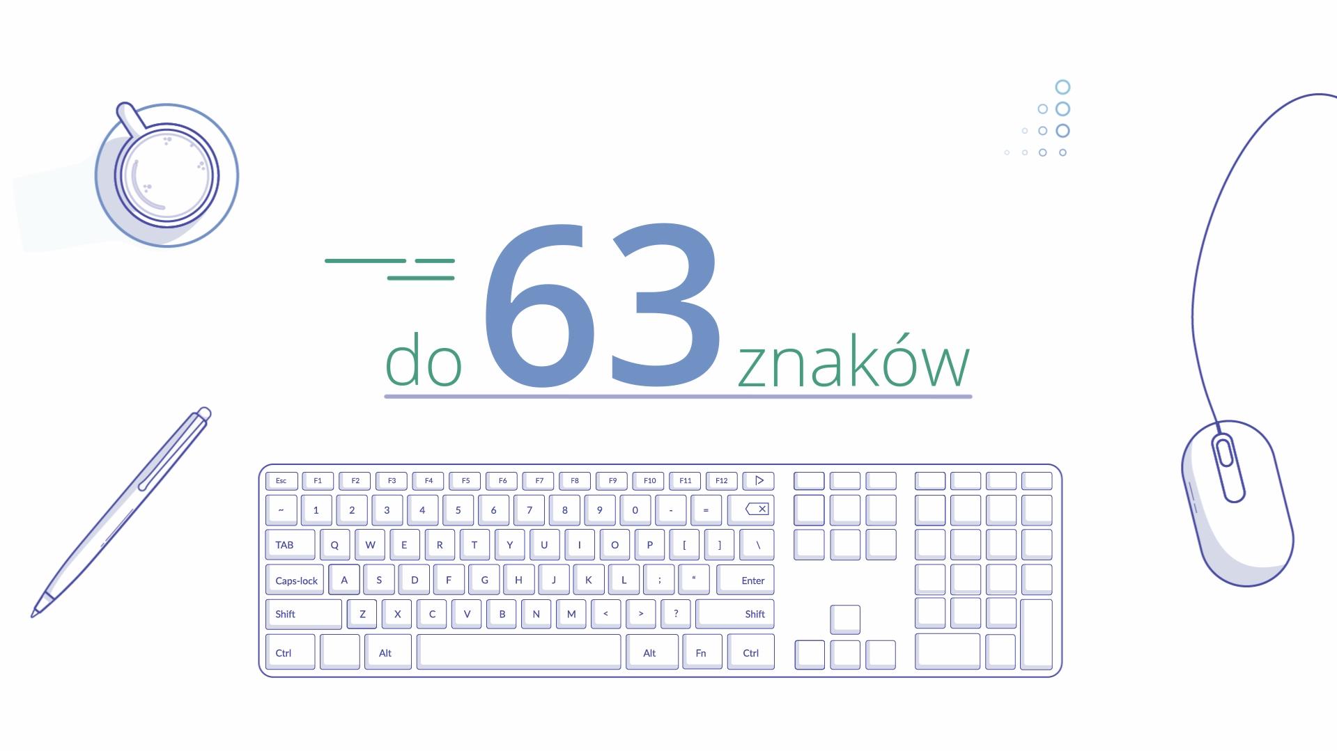 NASK Rejestr PL Explainer Video - Ilustracja klawiatury